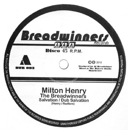 Milton Henry & The Breadwinners - Salvation / dub / Gold Digger / dub (Breadwinners) 12""